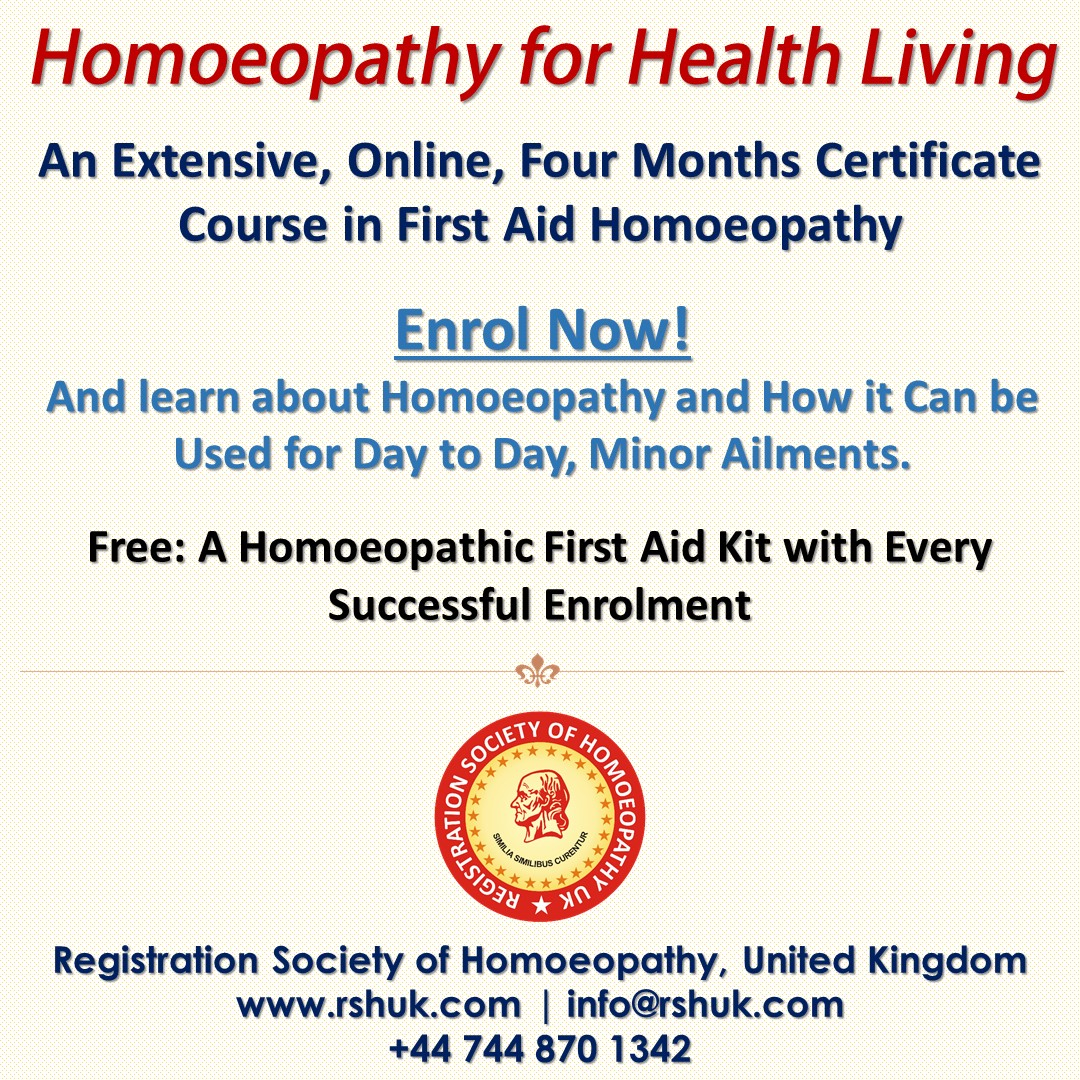 Homoeopathy for healthy living - first aid in homeopathy